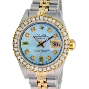 Rolex Lady Datejust Blue MOP Diamond Dial/Bezel